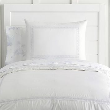 Monique Lhuillier Something Blue Border Duvet Cover