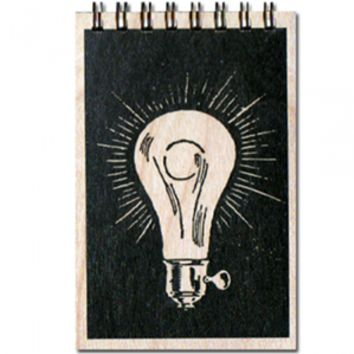 Wood Notepad Light Bulb