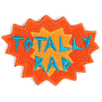 Totally Rad Iron On Patch