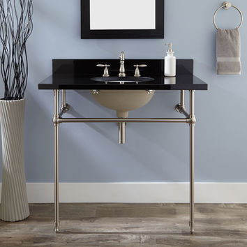 "24"" Art Deco Undermount Console Sink"