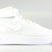 Nike Women's Air Force 1 Mid Ultra Flyknit White/White