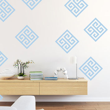 Greek Key, Geometric Wall Decal, Dorm Decor, Nursery Wall Decal, Apartment Decor, Apartment Wall Art, Office Wall Decor, Fret Pattern