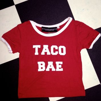 SWEET LORD O'MIGHTY! TACO BAE RINGER TEE