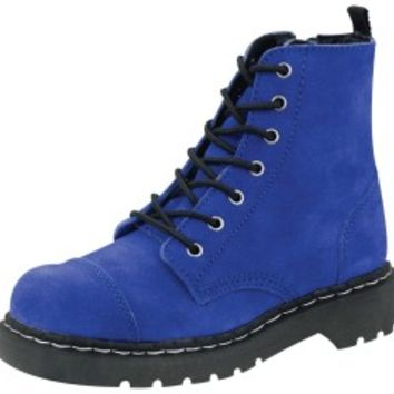 TUK Shoes Cobalt Blue Suede Boots