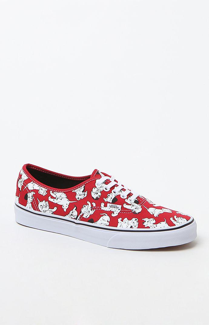 68633f91a79812 Vans - Disney Authentic 101 Dalmatians Shoes - Mens Shoes - Red