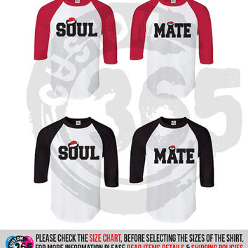 Soul Mate Xmas inspired Shirts SET OF 2 (Straight Fit Raglan)