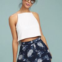 Won't Let Go Navy Blue Floral Print Mini Skirt
