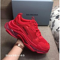 RED BOLD BALENCIAGA COLLECTIBLE SNEAKERS SHOES FOR WOMEN MEN GIFT