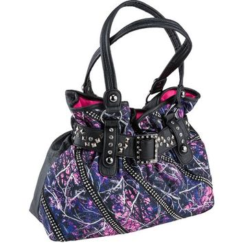 Monte Vista Women's Muddy Girl Camo Satchel Handbag