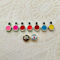 Floating charms for living locket  Nail Polish ... I do nails ... I love Pedicures