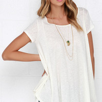 Midday Mirage Cream Lace Top