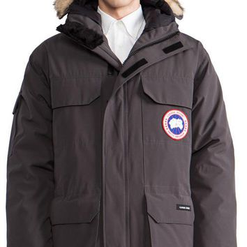 Canada Goose Expedition Parka With Coyote Fur Collar In Charcoal| Best Deal Online