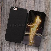 Wallet Leather Case for iPhone 4s 5s 5C SE 6S Plus Case, Samsung S3 S4 S5 S6 S7 Edge Note 3 4 5 Tinkerbell Cases
