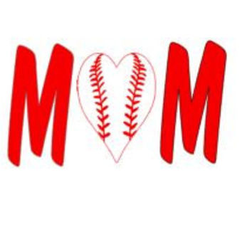 Baseball Mom Decal, Gift for Mom, Baseball Bumper Sticker, Custom Vinyl Decal, Sports Laptop Decal