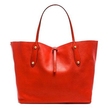 Annabel Ingall Large Isabella Tote in Coral