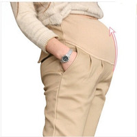 High Quality Maternity Belly Pants Causal Trousers For Pregnancy Wear Plus Size Autumn And Spring Clothes For Pregnant Women-N5 = 1946462276