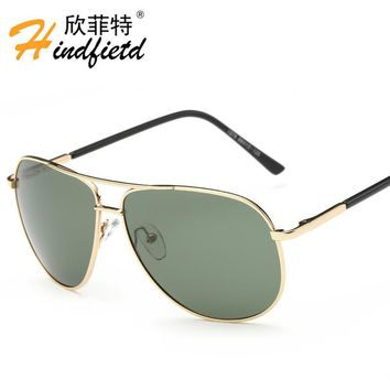 Alloy Polarized sunglasses metal frame sunglasses men driving sun glasses male frog mirror aviator poilt style eyewear 2016 cool