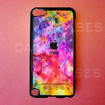 Ipod Touch 5 Case   Colorful Apple Ipod Touch 5 by DzinerCases