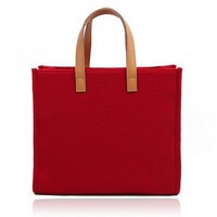 Simple Woolen Felt Tote Bag for Women