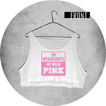 On Wednesdays We Wear Pink Mean Girls Crop Top Tank Top Shirt