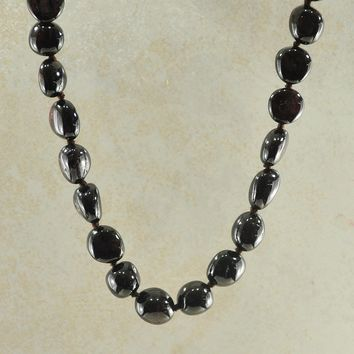 Deep Red Garnet Chunky Natural Stone Necklace