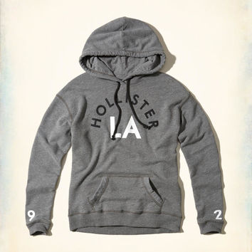 Girls Oversized Graphic Hoodie | Girls Tops | HollisterCo.com