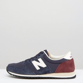 New Balance 420 Trainers In Navy at asos.com
