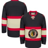 CCM Men's Chicago Blackhawks Vintage Premier Replica Black Jersey