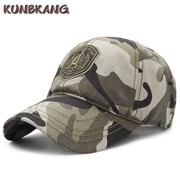 Trendy Winter Jacket New Arrive Camo Baseball Cap Men Embroidery Tactical Sun Dad Hat Letter A Bone Male Sports Camouflage Army Snapback Trucker Cap AT_92_12