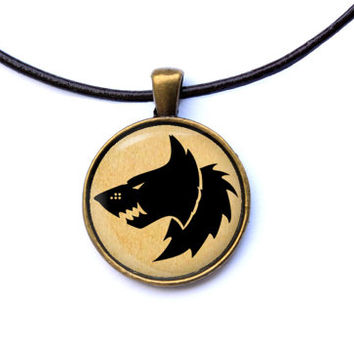 Gamer jewelry Warhammer 40K necklace Space Wolves pendant