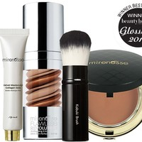 *SP Sunkissed Goddess 4pce Primer, Foundation, Bronzer and Brush Kit - Mirenesse
