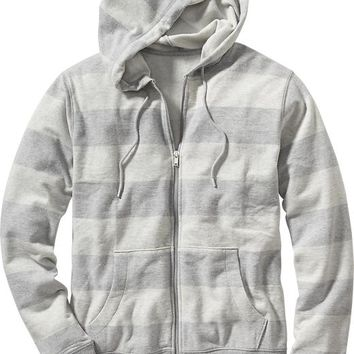 Old Navy Striped Zip Front Hoodie