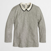 Factory three-quarter-sleeve tipped Peter Pan collar tee : long sleeve | J.Crew Factory
