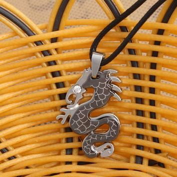 Gift Stylish Jewelry Shiny New Arrival Stainless Steel Totem Punk Style Korean Titanium Pendant Accessory Necklace [6542796547]