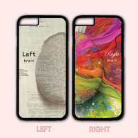 Left and Right Brain Couple Case,Custom Case,iPhone 6+/6/5/5S/5C/4S/4,Samsung Galaxy S6/S5/S4/S3/S2