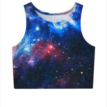 Universe, Space All Over Print 3D Women Tank Top