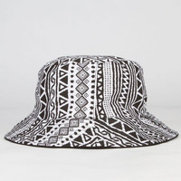 Tribal Reversible Bucket Hat Black One Size For Women 23465710001