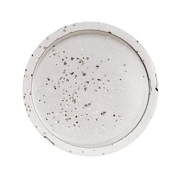 Natural Grey Concrete with Silver Glitter Circle Tray