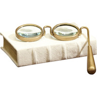 Spectacle Magnifying Glass in Brass