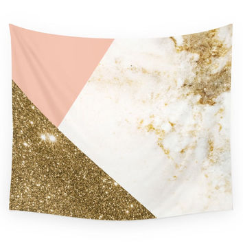 Society6 Gold Marble Collage Wall Tapestry