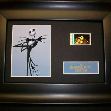 NIGHTMARE BEFORE CHRISTMAS Framed Movie Film Cell - Genuine Collectible Gift - animation Jack Skellington
