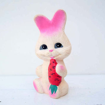 Vintage Soviet era Rubber Squeaky Toy Rabbit