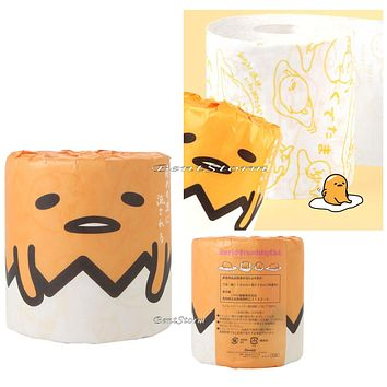 Licensed cool Sanrio Gudetama The Lazy Egg Images Novelty Toilet Paper Roll Gag Gift NISP