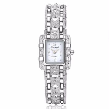 New Vintage Fashion Rhinestone Bracelet Watches Women Ladies Dress Quartz Wrist Watch Relogio Feminino w-01