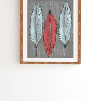Wesley Bird Feathered Framed Wall Art