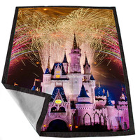 Disney Castle Fireworks 2 8086bb28-b691-49bc-8cb2-5cae539329b6 for Kids Blanket, Fleece Blanket Cute and Awesome Blanket for your bedding, Blanket fleece *02*