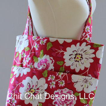 Tote Bag/Shoulder Bag Ready to Ship Large by chitchatdesignsllc