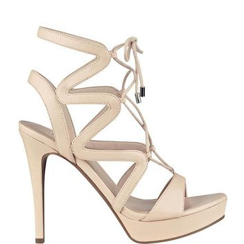 Aurela Lace-Up Heels at Guess