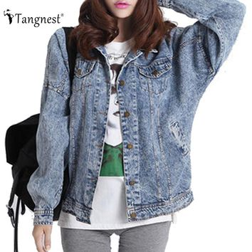 Denim Washed Vintage Boyfriend Jacket