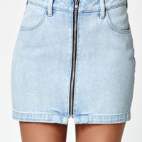 Kendall & Kylie Zip Front Denim Skirt at PacSun.com